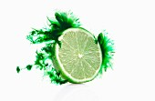 Half a lime with a green colour effect