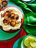 Flourless lime and almond cake