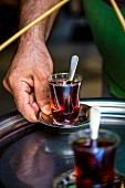 Tea being served, Istanbul, Turkey