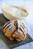 Buttermilk bread on a wooden board