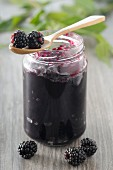 A jar of blackberry jam