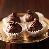 Coffee truffles with mocha beans