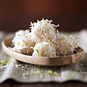 White coconut and lime pralines