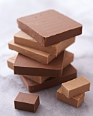 A stack of two types of nougat