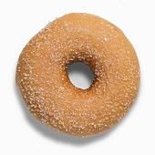 A golden brown sugared doughnut