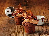 Savoury cupcakes with pulled pork