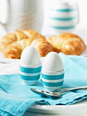 Egg eggs and croissants