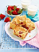 Strawberry Slice with coconut