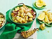 Roasted cauliflower salad with pears