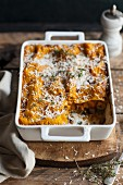 Lasagne with butternut squash and fish