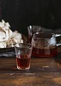 Rooibos tea in a tea glass