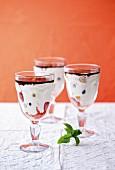 Berry desert with crème fraîche