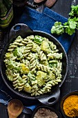 Cold pasta salad from India