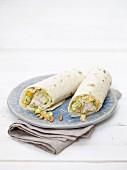 Wraps mit Geflügel-Mango-Salat
