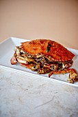 Fried crab with herbs and garlic (Shanghai, China)