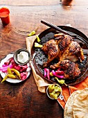Farouj Meshwe (grilled garlic chicken, Lebanon)