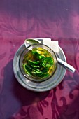 Fresh peppermint tea is served in Marrakesh, Morocco
