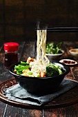 Chinese noodles vegetables