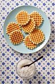 Waffles and sugar