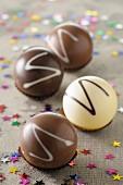 Chocolate pralines for Christmas