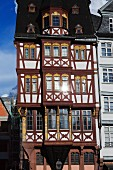 A halt-timbered house on Römerberg, Frankfurt am Main, Germany