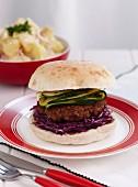 Lamb and beetroot burgers