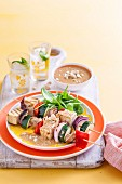 Grilled Tofu Skewers with Cashew Sauce