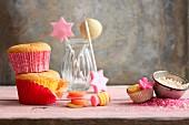 An arrangement of sweet treats for children