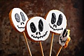 Ghost cookies on sticks