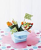 Japanese nori vegetable wraps