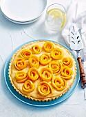 Mango berry tart