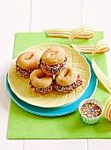 Doughnut-Schokoeis-Sandwich