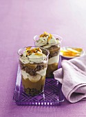 Salted caramel banoffee trifles