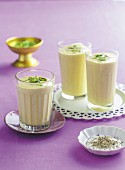 Mango and cardamom lassi