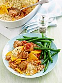 Pork and fennel meatball bake