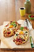 Egg capsicum & Spinach pizza