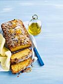 Zitrus-Streusel-Kuchen mit Olivenöl