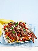 Lamb and zuchinni salad