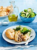 Chicken and mushroom pasties