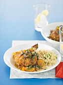 Clever chook - Apricot Chicken with Almond Couscous
