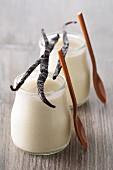 Homemade vanilla yoghurt