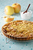 Crumble style apple tart