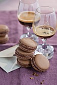 Macaroons with espresso mousse