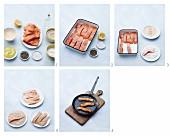 Lachsfischstäbchen zubereiten