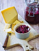 Onion and cherry chutney with honey