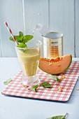 Baobab-Melonen-Smoothie mit Ingwer