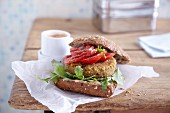 A chickpeas and quinoa burger