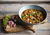 Lentil stew with gammon