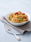 Prawn noodle dish