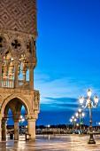 Dogenpalast am Morgen, Venedig, Italien
